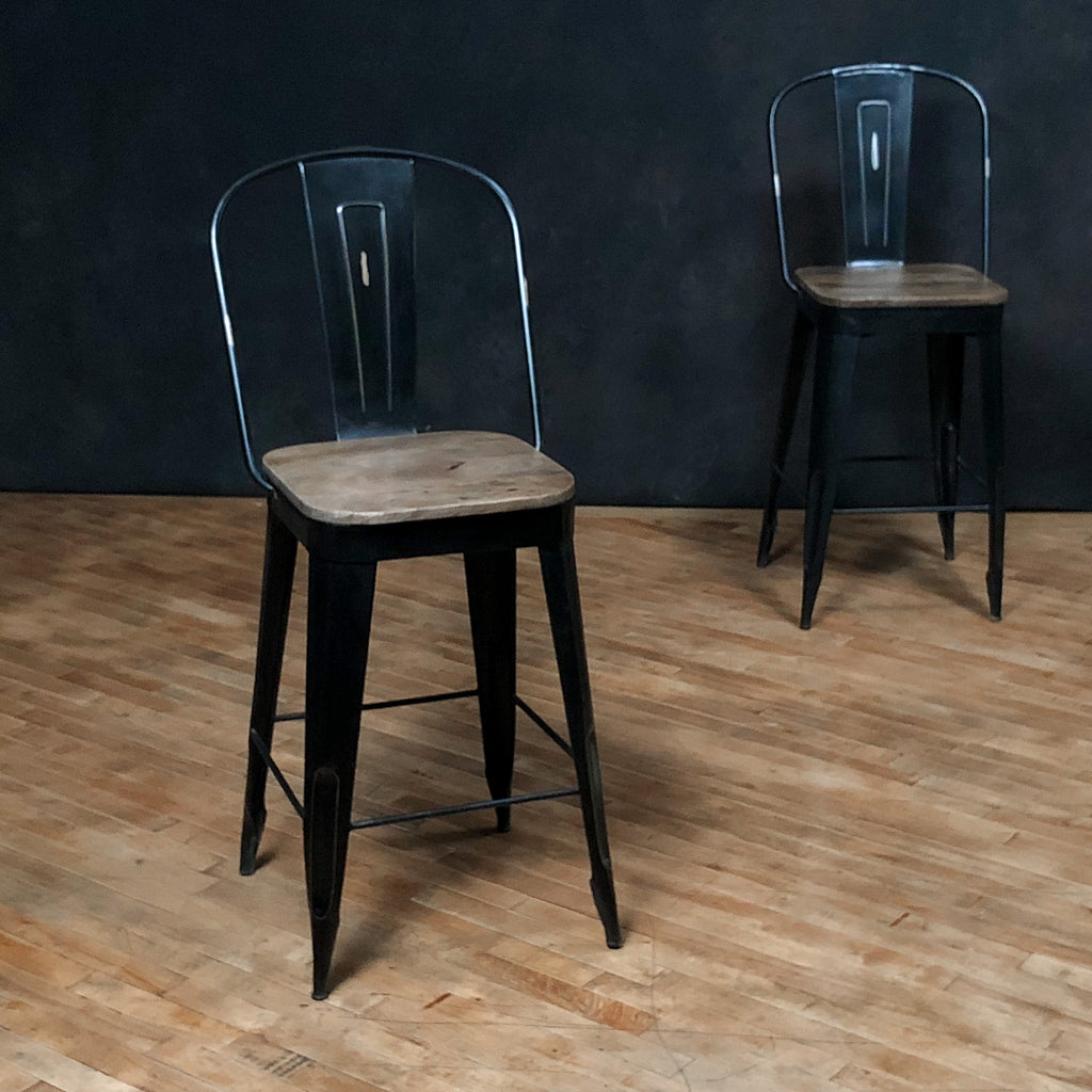 "Left Bank Counter Stool - 25"" seat, Black_Royal Circus"