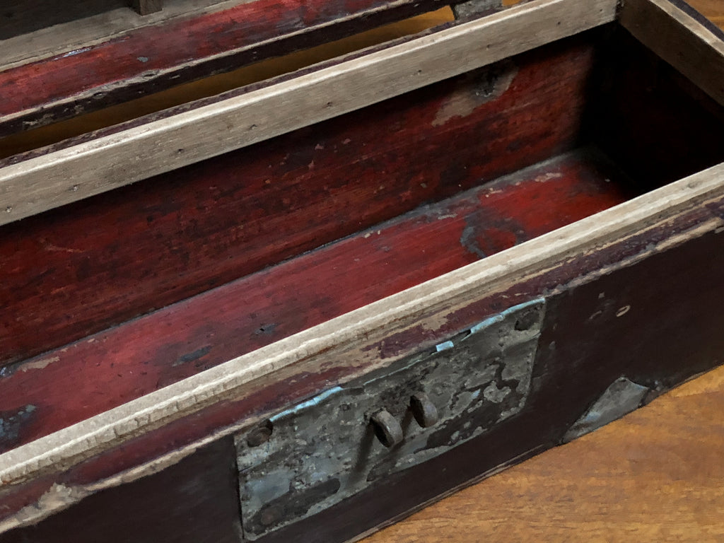 Antique Chinese Headrest Box_Royal Circus