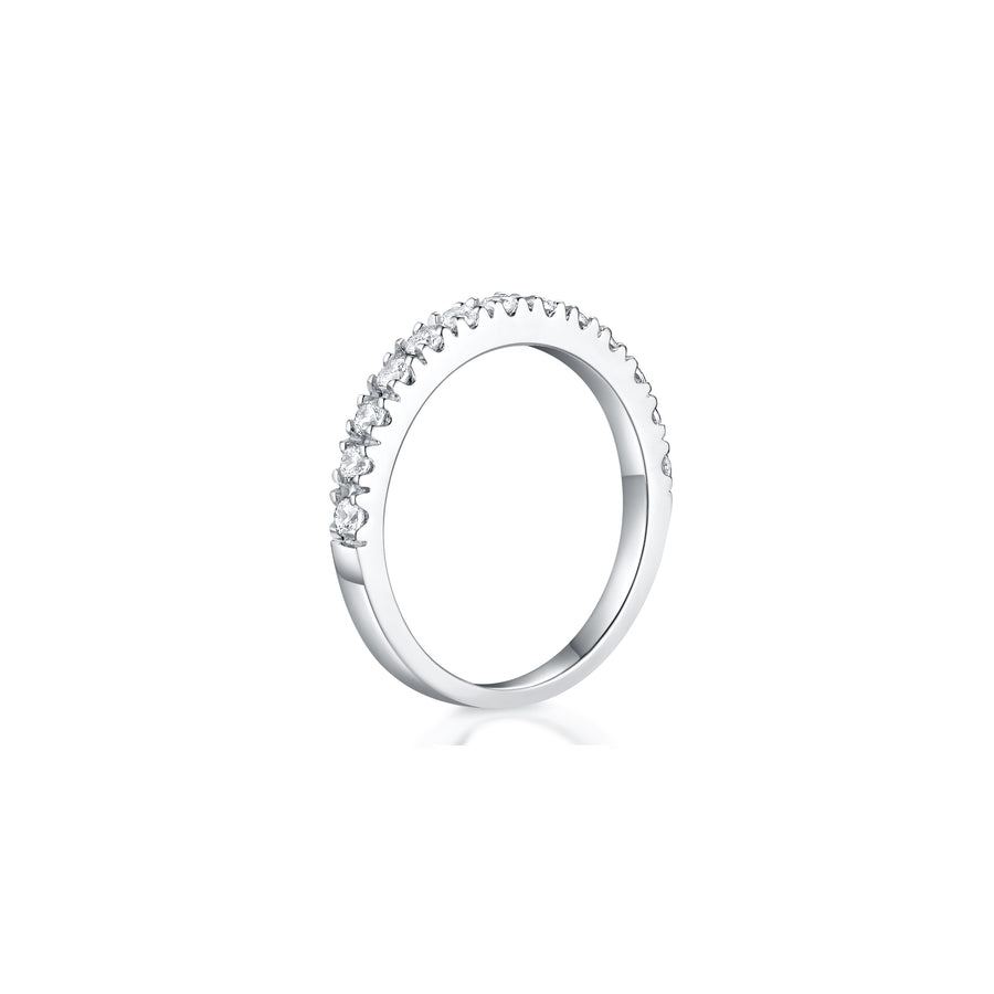 Giselle Half Eternity Wedding Band Side - Eclat by Oui
