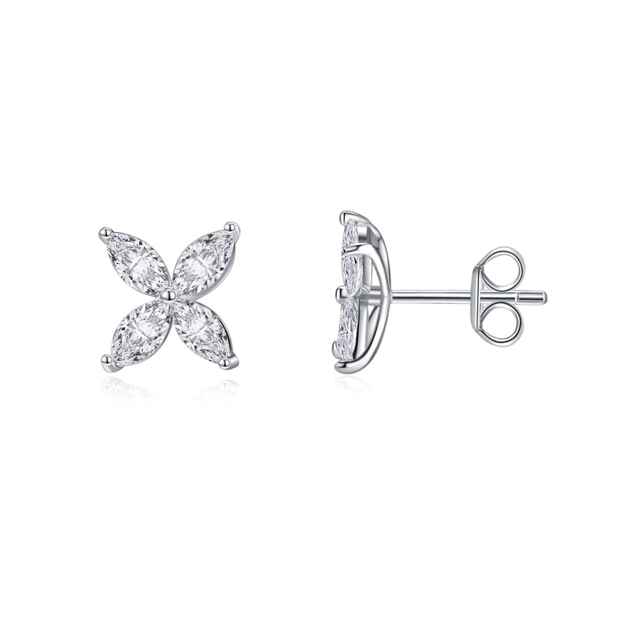 Cluster Marquise Ear Studs