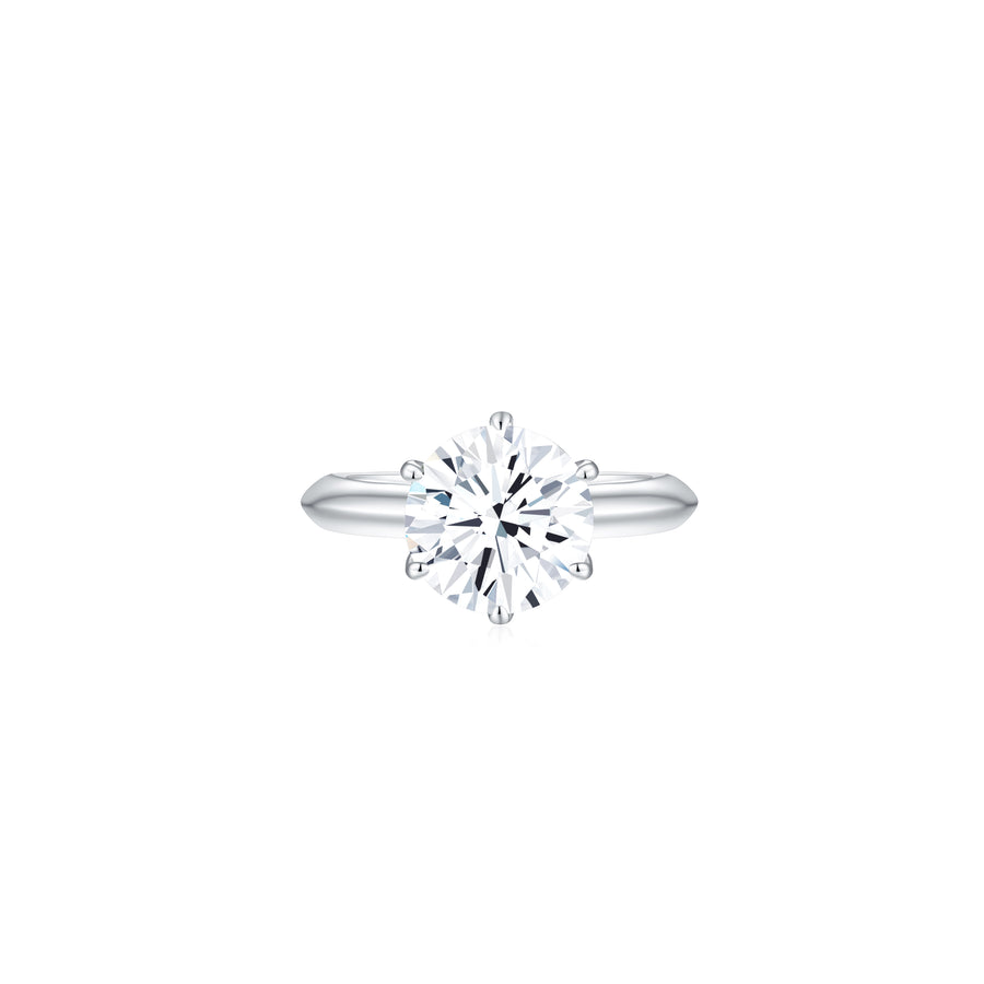 Éclat Classic Solitaire Ring front - Eclat by Oui