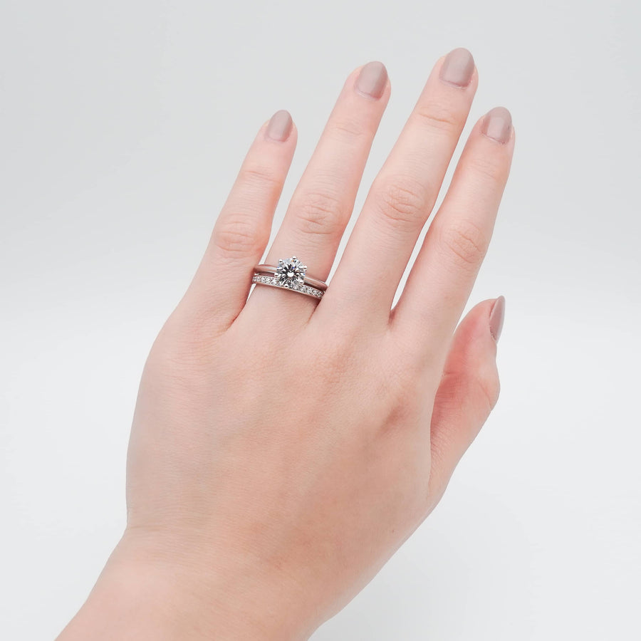 Evelyn Half Eternity Band