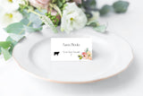 Floral Wedding Menu Cards