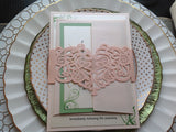 Ivory Laser Cut Invitation Belly Band-Logie Paperie Shop