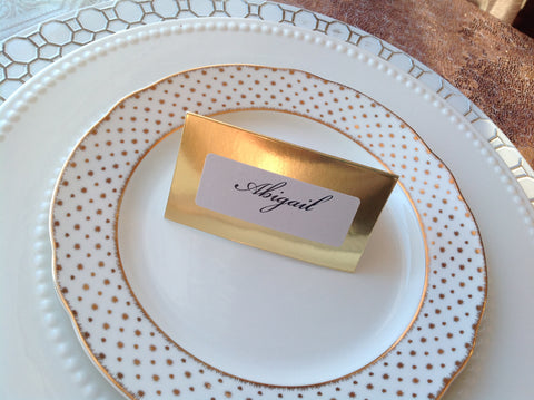 Gold Foil Place Cards | Wedding Escort Cards-Logie Paperie Shop
