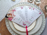 Wedding Program | Petal Fan Program-Logie Paperie Shop
