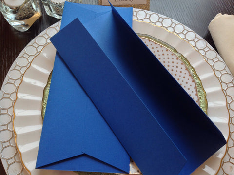 Royal Blue Tall Invitation Jacket | DIY Invitation Jacket-Logie Paperie Shop