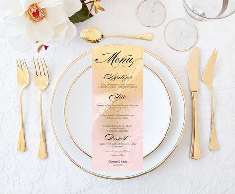 Wedding Menu Card Template | Download, Edit and Print PDF File-Logie Paperie Shop