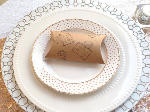 Kraft Favor Pillow Box.-Logie Paperie Shop