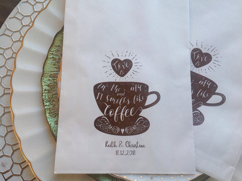 Coffee Bean Favor Treat Bags-Logie Paperie Shop