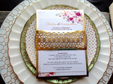 Laser Cut Gold Foil Invitation Belly Band-Logie Paperie Shop