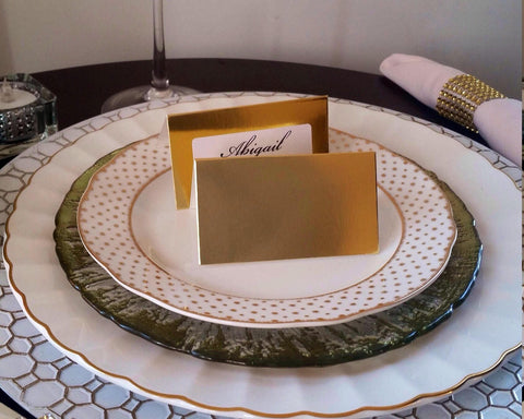 Gold Foil Wedding Place Cards | Gold Foil Escort Cards-Logie Paperie Shop
