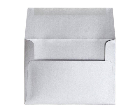 Silver Pearlescent Invitation Envelopes-Logie Paperie Shop
