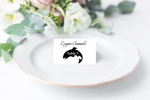 Wedding Place Cards with Food Choice