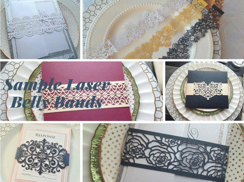 Sample Laser Cut Invitation Belly Bands