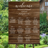 Rustic Wood Wedding Seating Chart