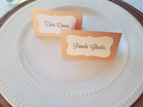 Rose Gold Blush Place Cards