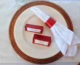 Christmas Napkin Rings and Place Cards Set