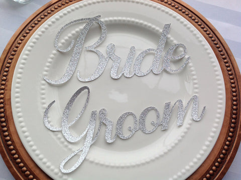 Gold Bride and Groom Place Setting