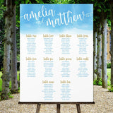 Watercolor Wedding Seating Chart Template