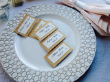 Gold Glitter Wedding Place Cards