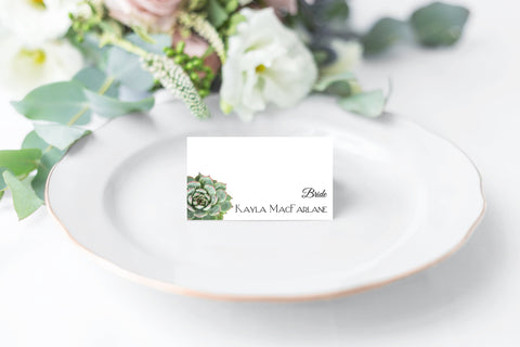 succulent wedding Place Card