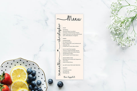 Wedding Menu Cards, Menu Cards, Reception Menu Cards, Anniversary Menu Cards, Personalize, Brunch, Rehearsal Dinner Menu, Birthday Party