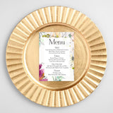 wedding menu card by Logie Paperie