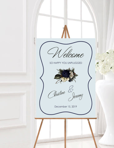 Wedding Welcome Sign, Unplugged Ceromony, Wedding Signage, Unplugged Wedding Sign, Custom Welcome Sign, Personalized Sign, Digital Download