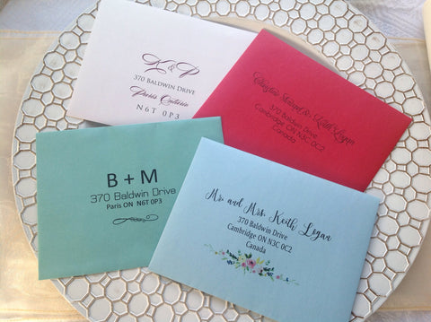 Invitation Envelopes with Guest Addressing | RSVP Addressing-Logie Paperie Shop