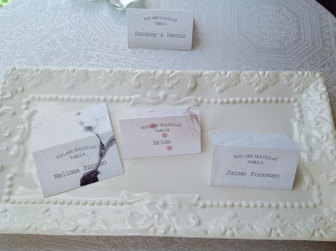 Marble Place Cards-Logie Paperie Shop