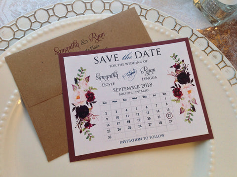 Save the Date Calendar Card-Logie Paperie Shop