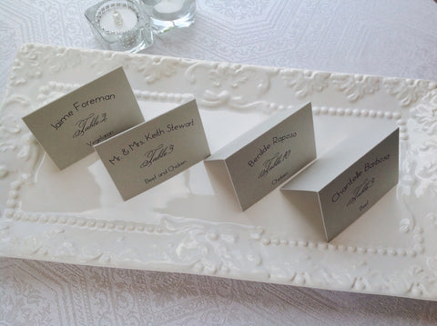 Silver Wedding Place Cards-Logie Paperie Shop
