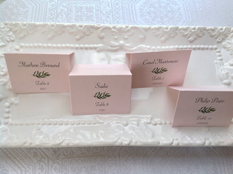 Wedding Place Cards with Greenery Leaf Design-Logie Paperie Shop