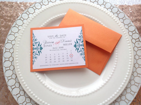Save the Date Calendar Cards | Wedding Save the date-Logie Paperie Shop