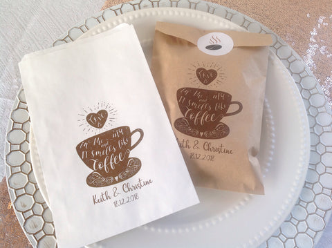 Favour bags for coffee treat-Logie Paperie Shop