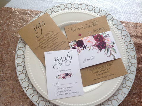 Rustic Wedding Invitation Suite-Logie Paperie Shop