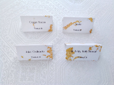 Gold Marble Wedding Place Cards-Logie Paperie Shop