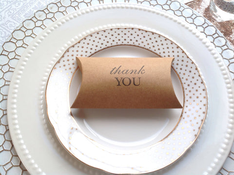 Thank you Favor Pillow Box-Logie Paperie Shop