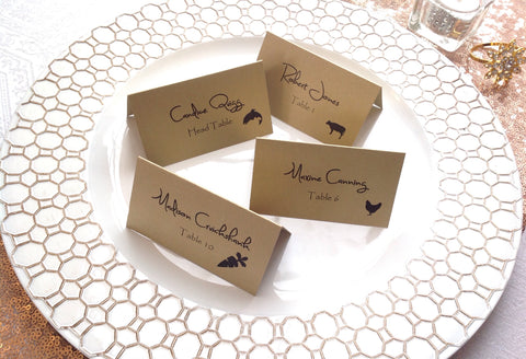 Wedding Place Cards with Food Choice-Logie Paperie Shop