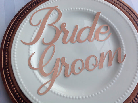 Bride and Groom Wedding Place Setting