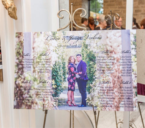 Photo wedding seating chart-Logie Paperie Shop