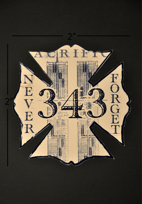 The Blueprint for Sacrifice Firefighters Helmet Decal