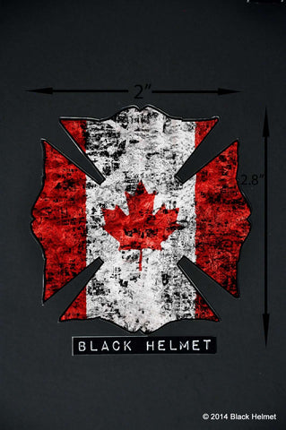 Flag of Canada Maltese Helmet Decal
