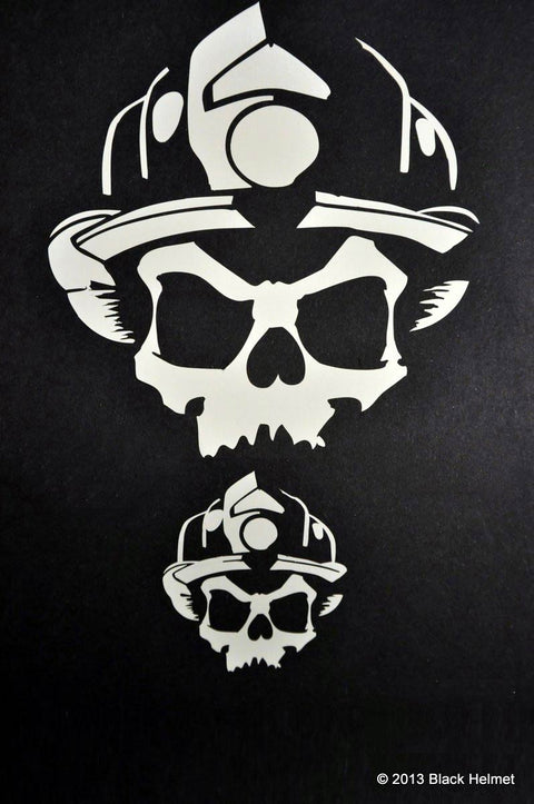 Skull Logo Vinyl Decal 2 Pack (5 Alarm)