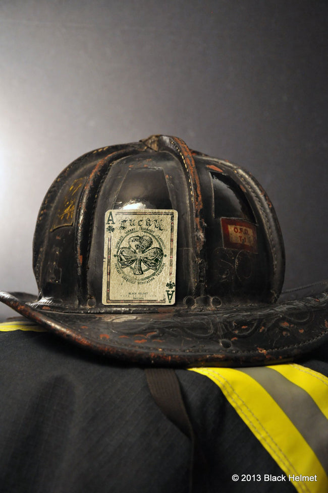 Lucky Club Firefighters Helmet Decal