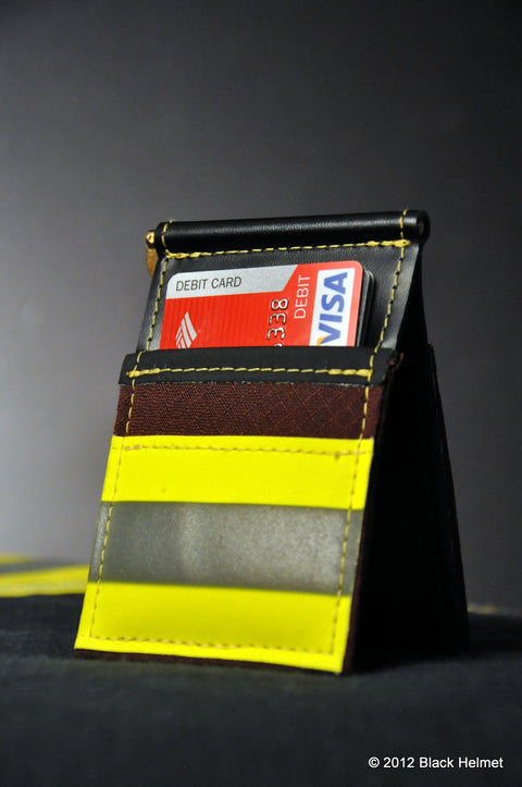 Used Bunker Gear Money Clip and CC Holder (Maroon)