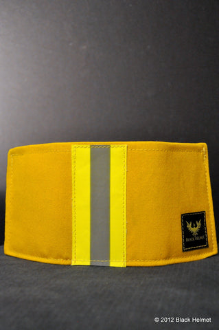 Bunker Gear Badge Wallet (Tri-fold, Yellow)