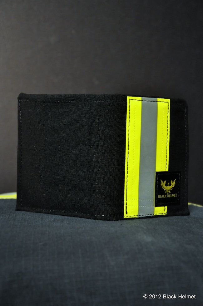 Bunker Gear Badge Wallet (Tri-fold, Black)