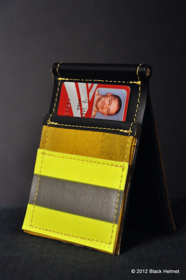 Used Bunker Gear Money Clip and CC Holder (Yellow)
